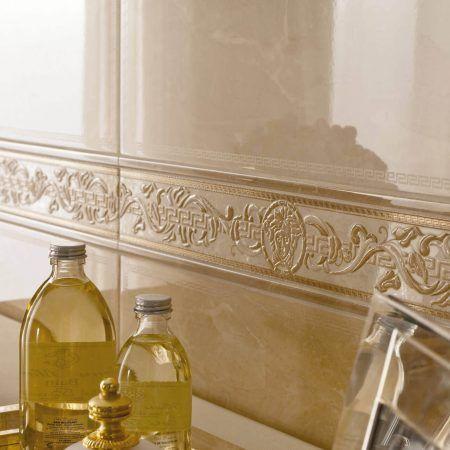 Versace aukso spalvos vonios plytelės
