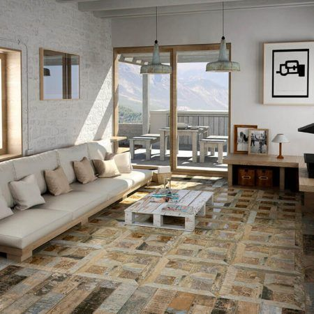 Medienos imitacijos keraminės grindų plytelės Aparici Kingdom
