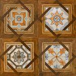 Medienos imitacijos keraminės grindų plytelės dekoruotos Aparici Kingdom