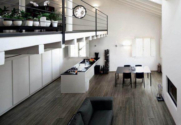 Medienos imitacijos virtuvės plytelės
