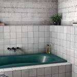 Vonios sienu plyteles artisan baltos